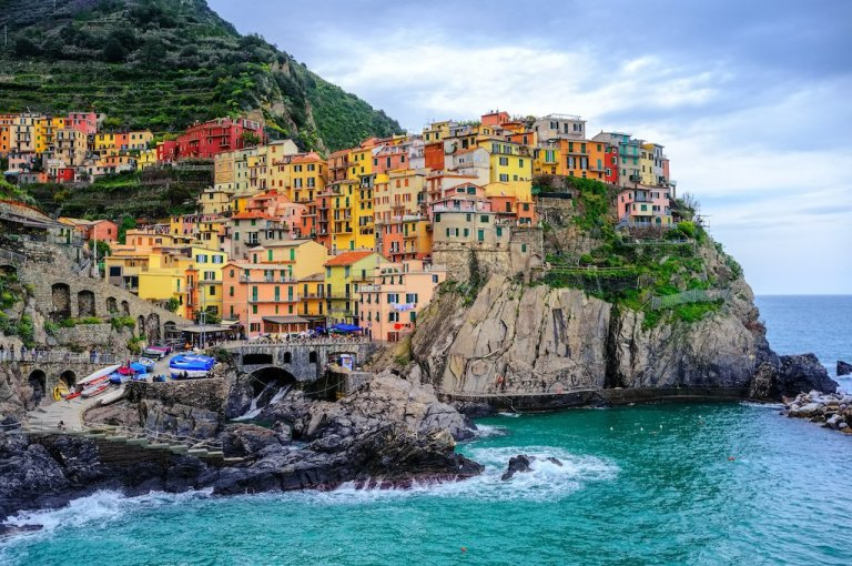 Viallge-from-the-Sea-La-Toretta-Lodge-Manarola-Cinque-Terre-Italy